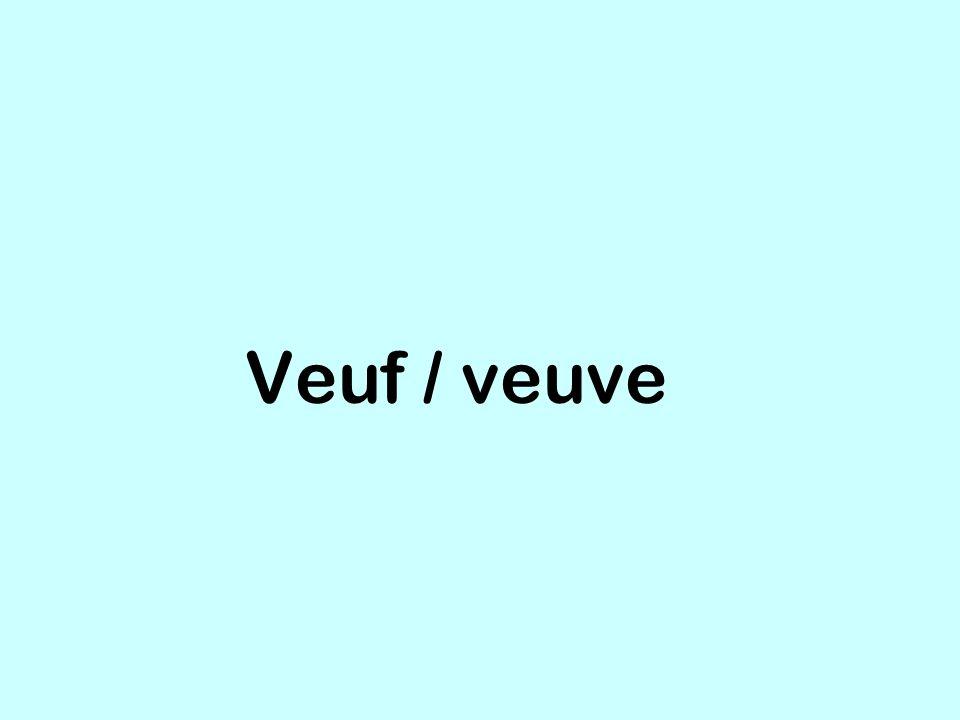 Veuf / veuve