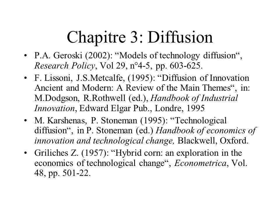 Chapitre 3: Diffusion Les techno.