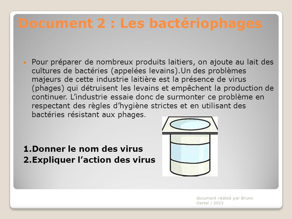 Pour lindustrie : des bactéries utiles à lindustrie peuvent être infectées et détruites par des virus.