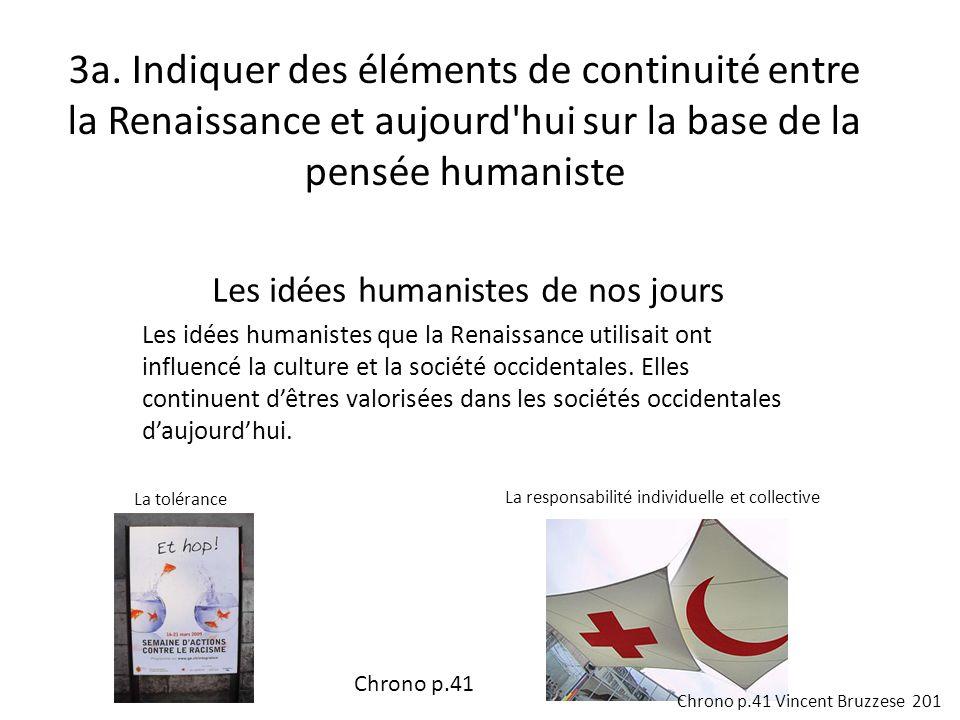 Les idées humanistes de nos jours Les idées humanistes que la Renaissance utilisait ont influencé la culture et la société occidentales.