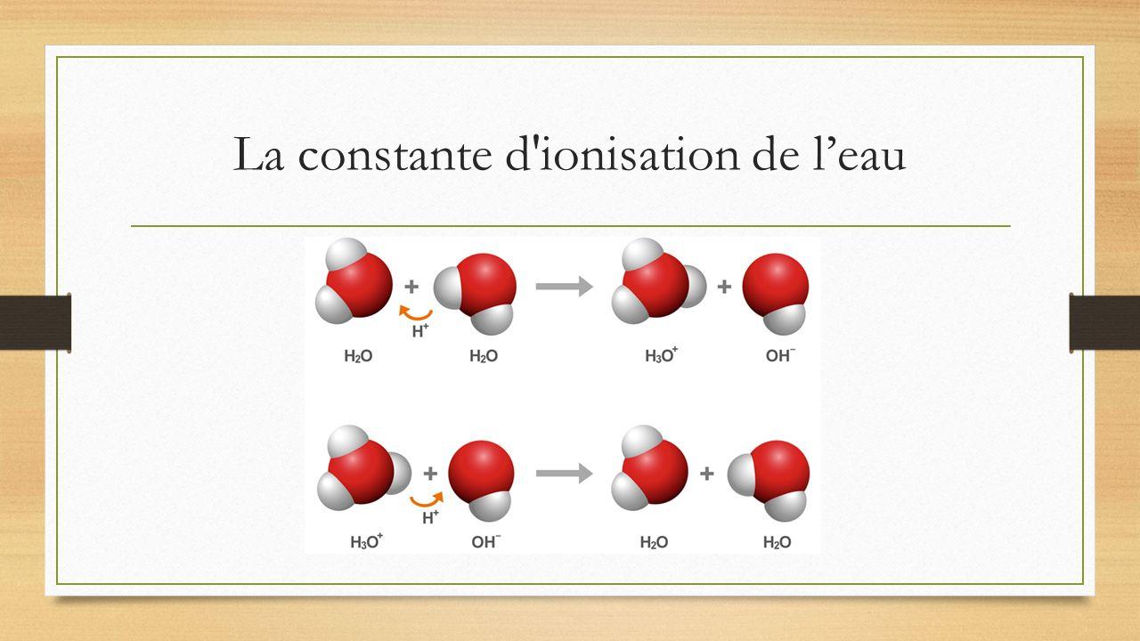 La constante d'ionisation de leau