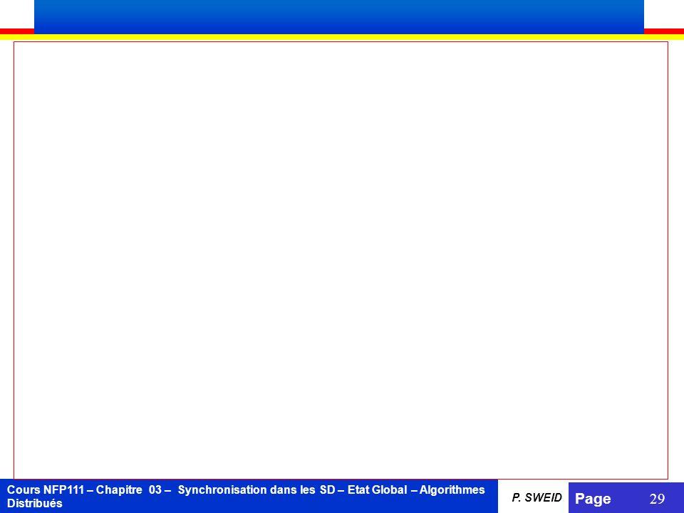 Cours NFP111 – Chapitre 03 – Synchronisation dans les SD – Etat Global – Algorithmes Distribués Page 29 P. SWEID
