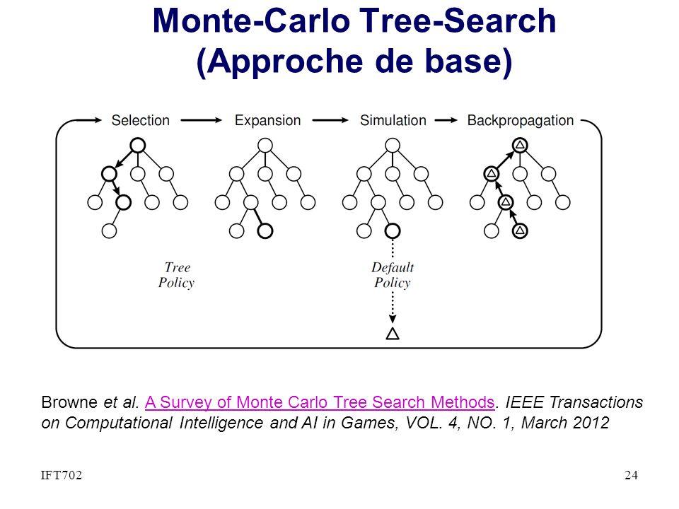 Monte-Carlo Tree-Search (Approche de base) 24IFT702 Browne et al.