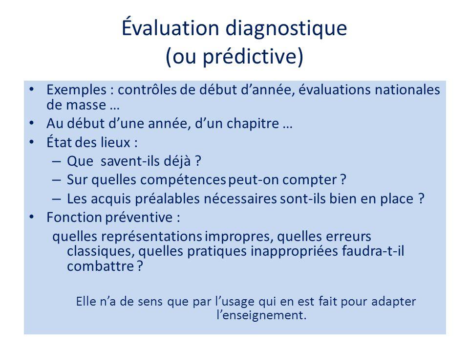 Évaluation normative La performance dun élève se réfère à une échelle graduée de notes ou est comparée à celle des autres personnes dun groupe de référence.