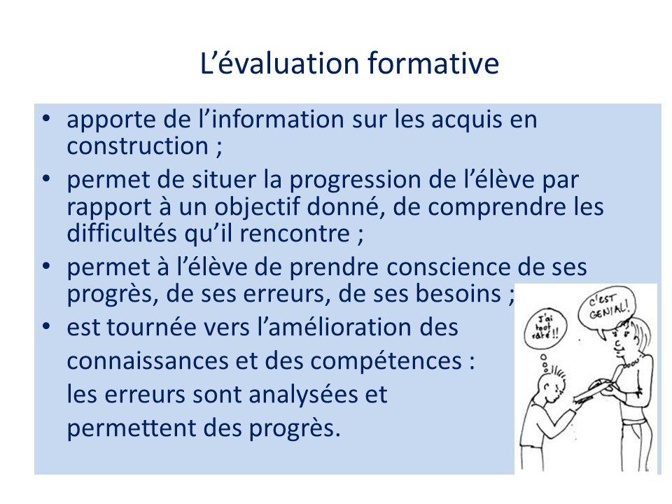 Évaluation formative : comment .