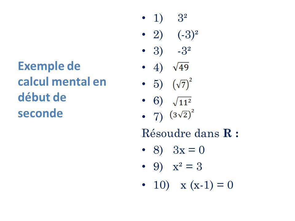 Exemples dinterrogation de calcul mental