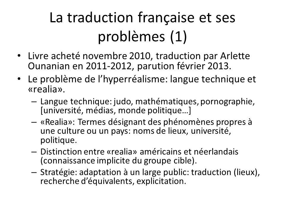 La traduction française et ses problèmes (1) Livre acheté novembre 2010, traduction par Arlette Ounanian en 2011-2012, parution février 2013.