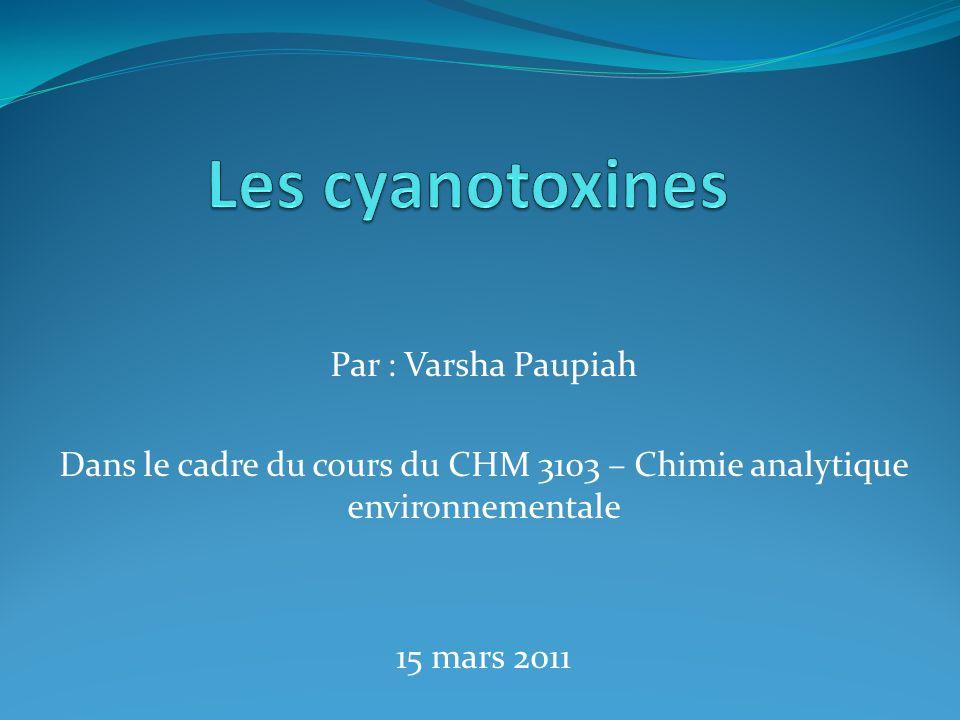 Par : Varsha Paupiah Dans le cadre du cours du CHM 3103 – Chimie analytique environnementale 15 mars 2011