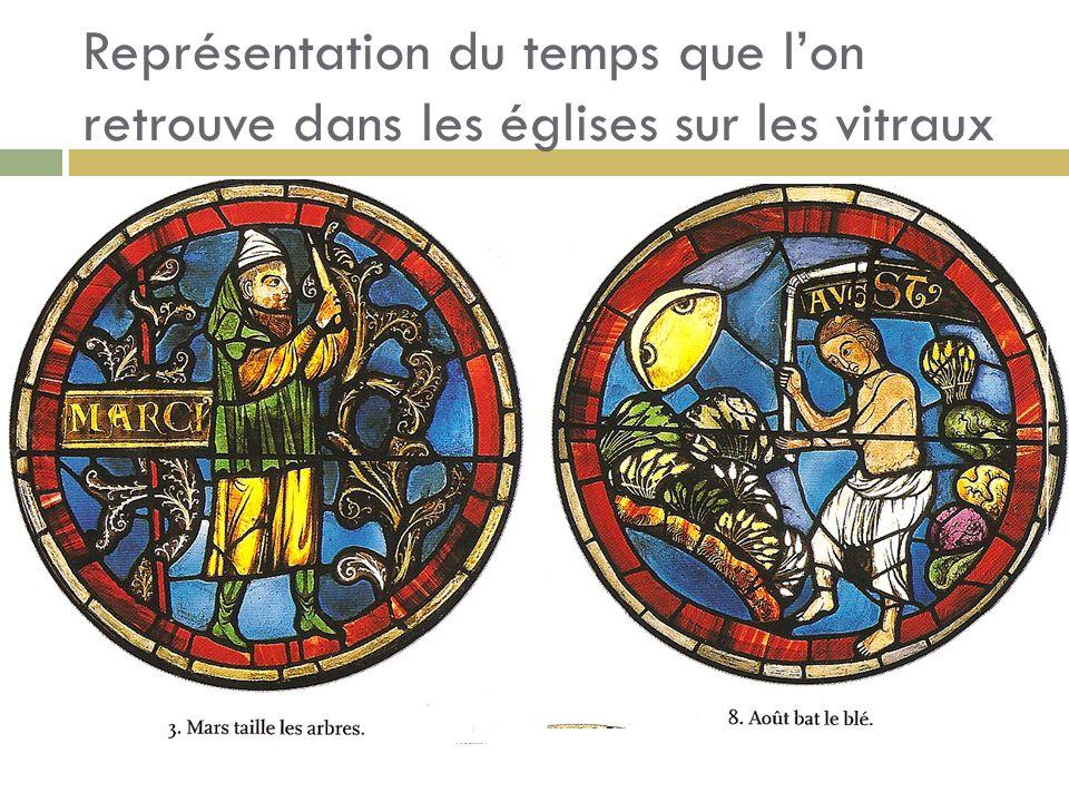 Représentation du temps que lon retrouve dans les églises sur les vitraux