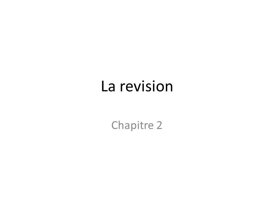 La revision Chapitre 2