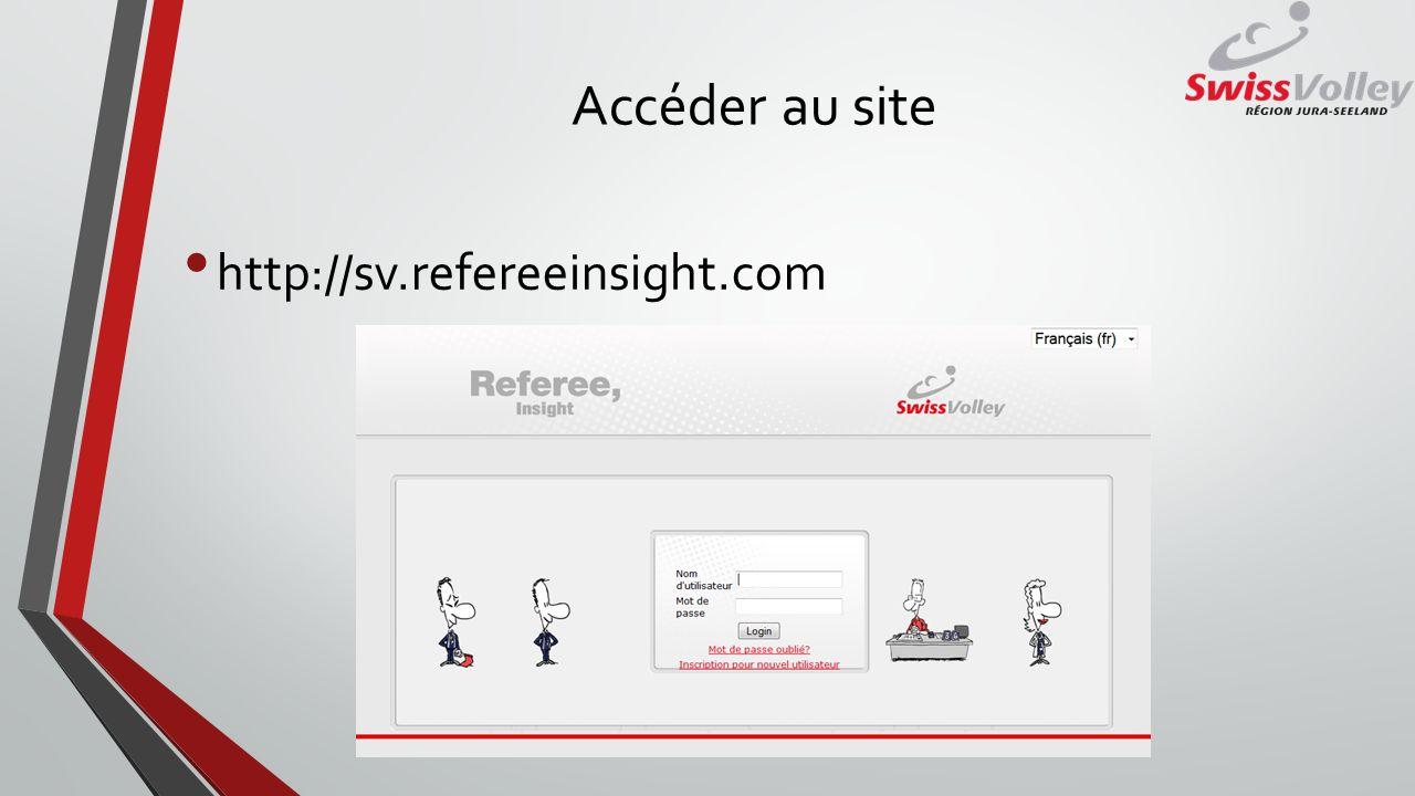 Créer un compte utilisateur Presser sur inscription pour nouvel utilisateur