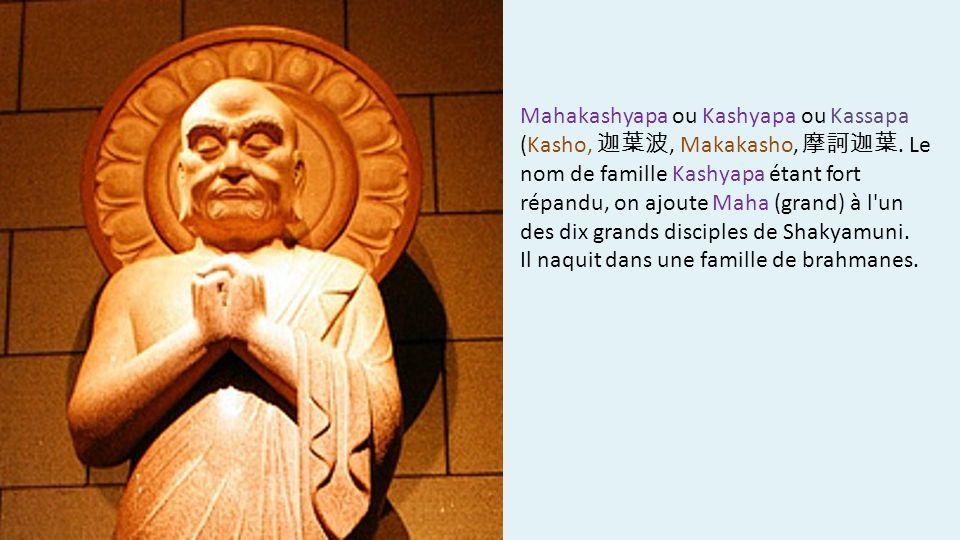 Mahakashyapa ou Kashyapa ou Kassapa (Kasho,, Makakasho,. Le nom de famille Kashyapa étant fort répandu, on ajoute Maha (grand) à l'un des dix grands d