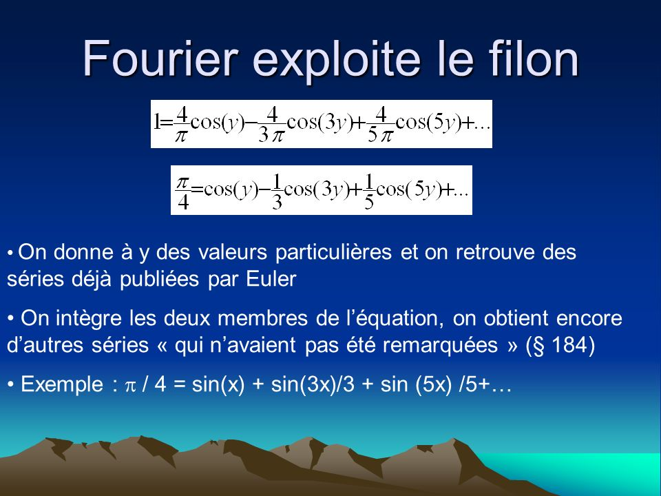 Une expression infinie de la solution Mode 1Mode 3Mode 5