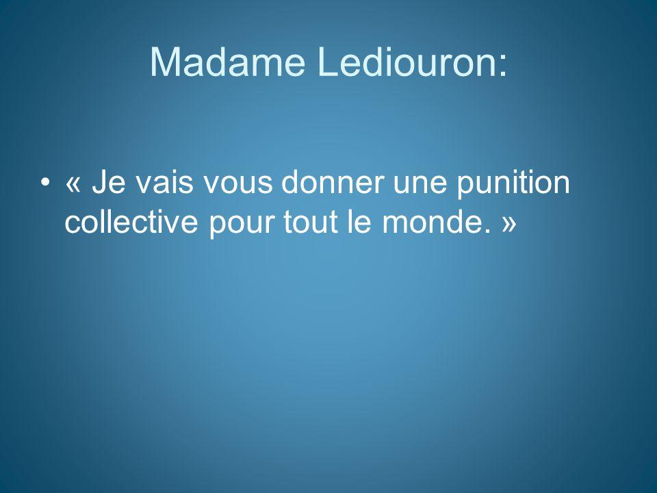 Madame Luscan: « Pour que la masse soit suffisamment suffisante. »