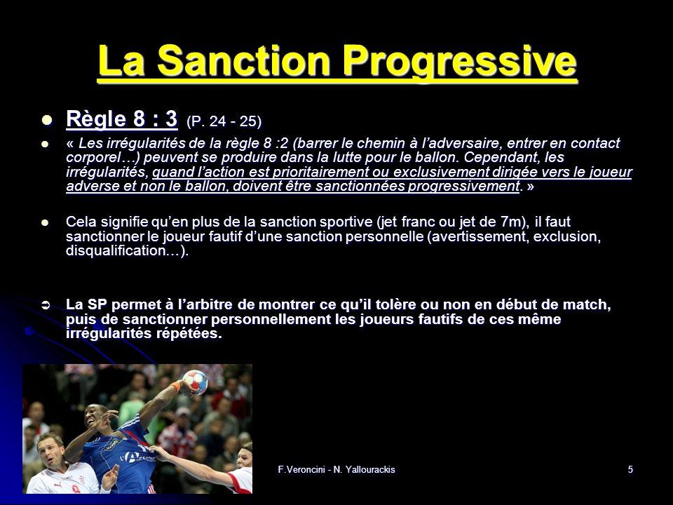 F.Veroncini - N. Yallourackis5 La Sanction Progressive Règle 8 : 3 (P.