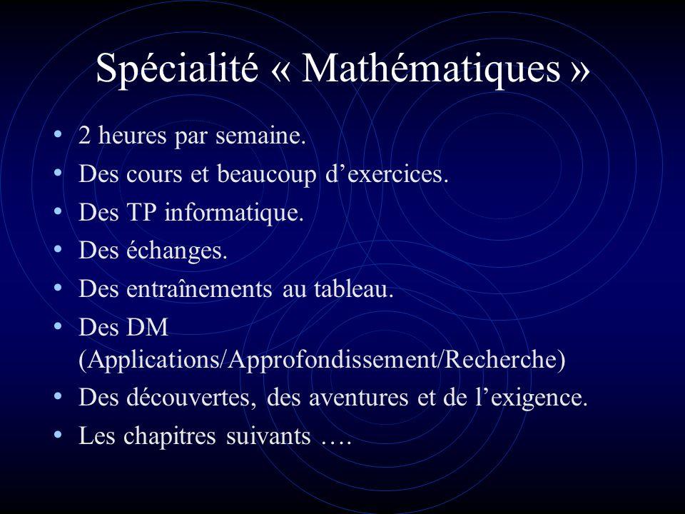 Spécialité « Mathématiques » Terminale S Lycée Stendhal Grenoble Dans larithmétique de lamour, un plus un est égal à linfini et deux moins un est égal