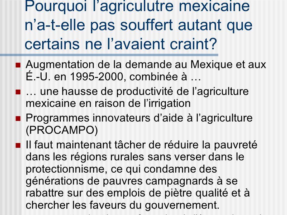 LALENA a-t-il beaucoup changé la donne dans le commerce des produits agricoles? (selon les analyses économétriques) EXPORTATIONS CHANGEMENT STRUCTUREL