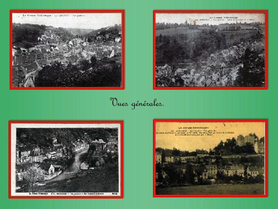 Vues générales prises du chapitre. Vue générale place dEspagne et la Terrade. Vue générale depuis la tour de lhorloge.