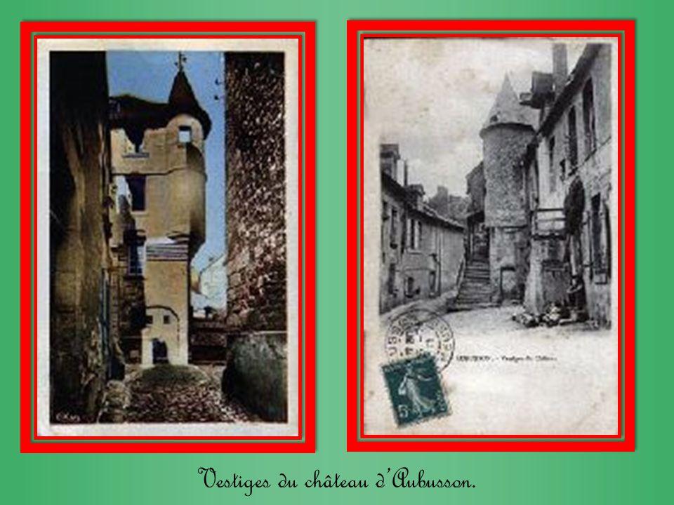 Vestiges du château dAubusson.