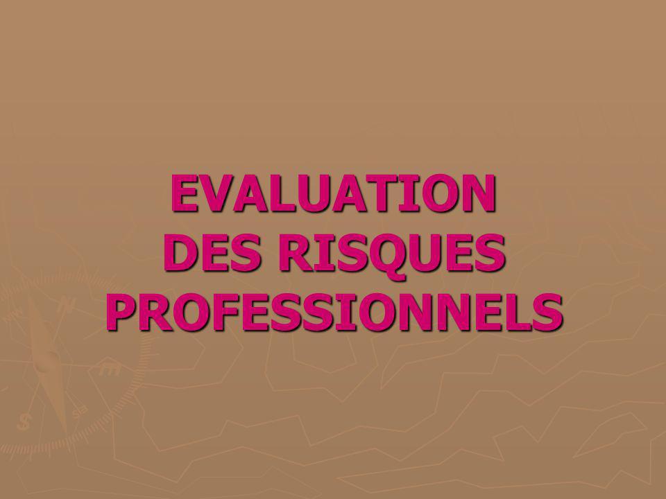 Evaluation des risques professionnels Préambule : - explosion de lusine AZF, - création dun document unique relatif aux risques professionnels (Décret du 5 novembre 2001).