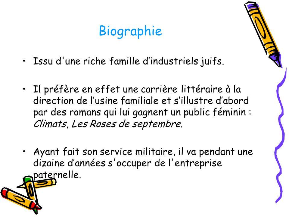 Biographie Issu d une riche famille dindustriels juifs.