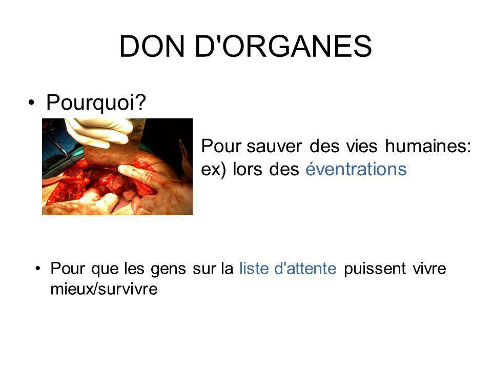 DON D ORGANES Pourquoi.