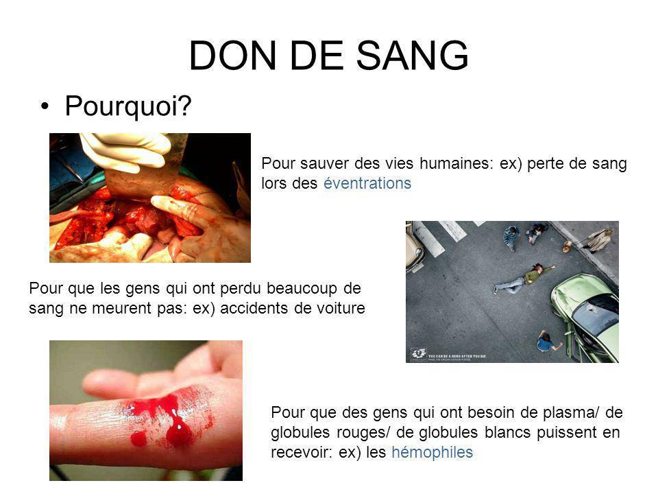 DON DE SANG Pourquoi.