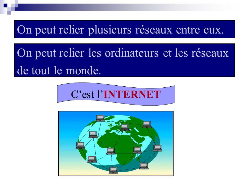 2) Le réseau Internet Le réseau Internet est le réseau de réseaux.