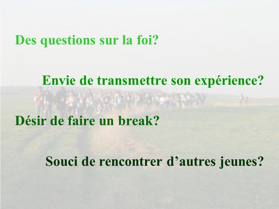 Le pèlerinage de Chartres des étudiants dIle de France vous attend… Le 31 Mars et le 1 Avril 2007 avec la route Saint Jean