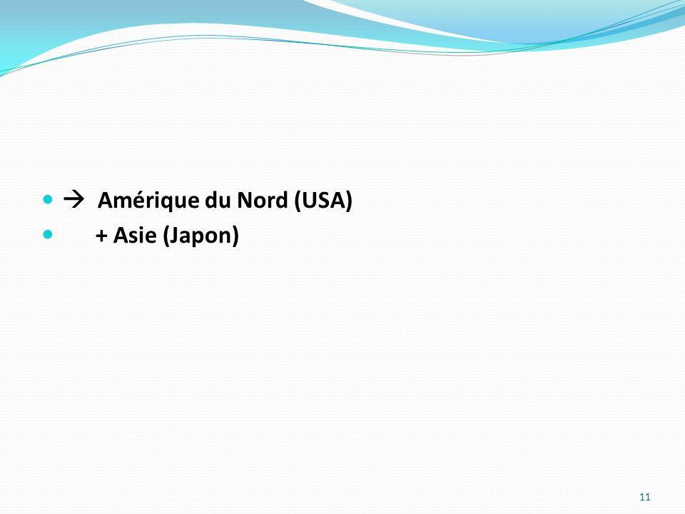 Amérique du Nord (USA) + Asie (Japon) 11