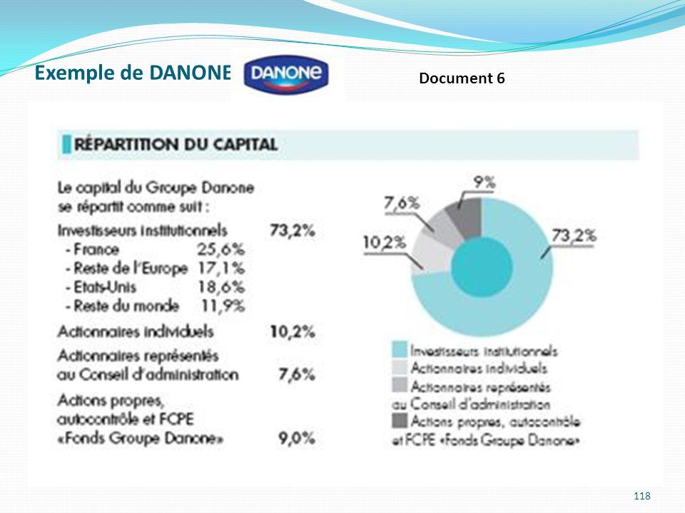 Exemple de DANONE : 118 Document 6