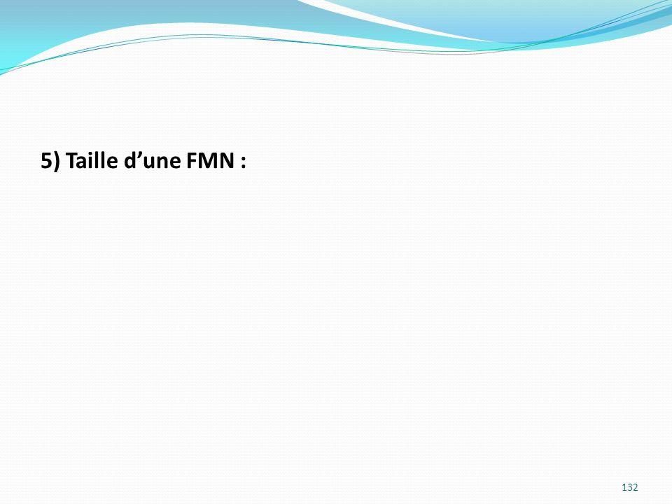 5) Taille dune FMN : 132