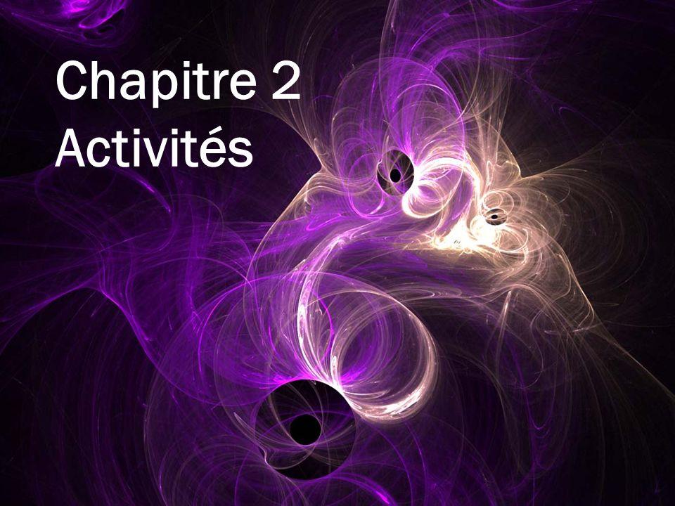 Chapitre 2 Activités
