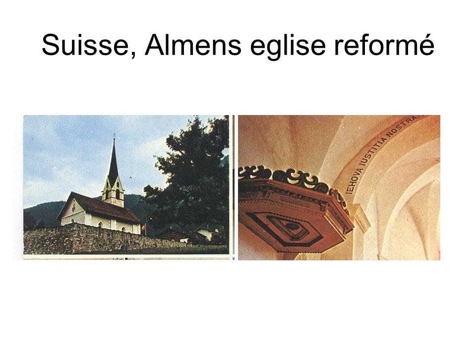 Suisse, Almens eglise reformé