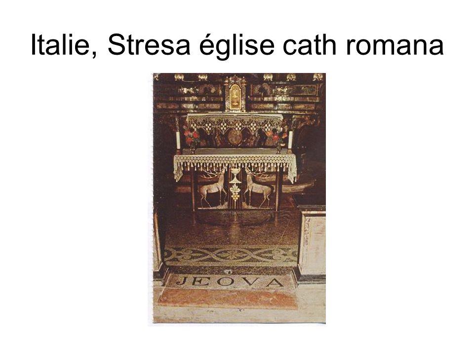 Italie, Stresa église cath romana