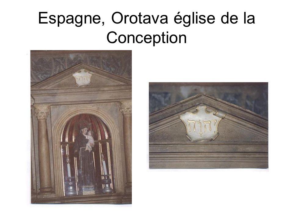 Espagne, Orotava église de la Conception