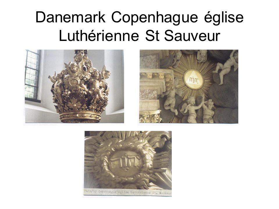 Danemark Copenhague église Luthérienne St Sauveur