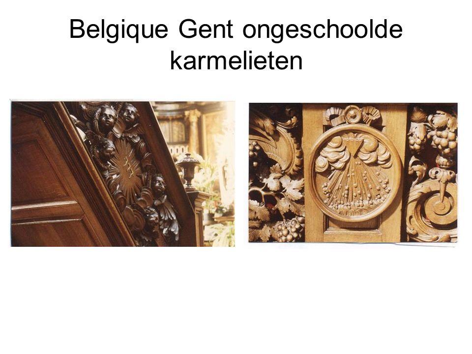 Belgique Gent ongeschoolde karmelieten