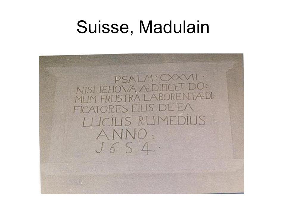 Suisse, Madulain