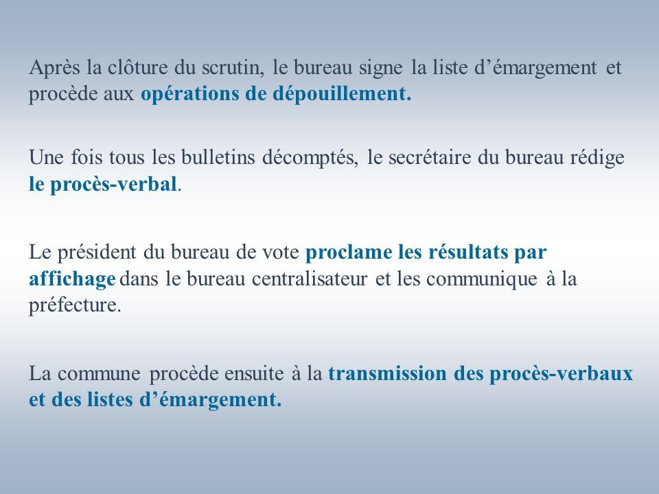 Par ailleurs, une feuille de proclamation spécifique est à compléter et à annexer au PV pour lélection des conseillers municipaux et la liste des conseillers communautaires.