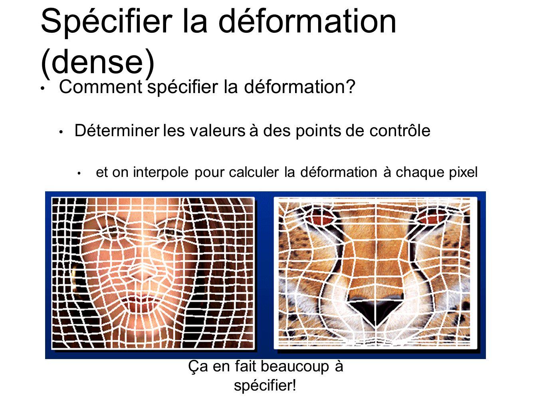 Spécifier la déformation (dense) Comment spécifier la déformation.
