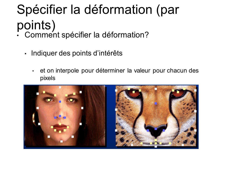 Spécifier la déformation (par points) Comment spécifier la déformation.