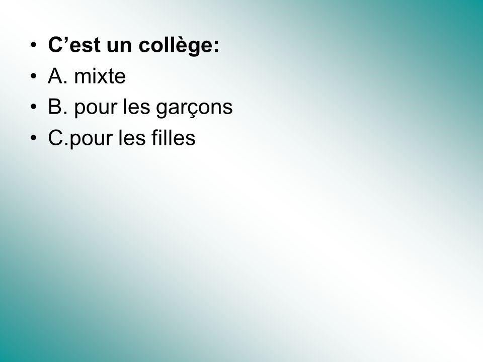 Trouvez le réponse pour chaque question.1. Où vas-tu au collège.