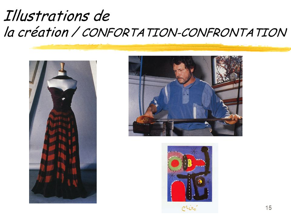 15 Illustrations de la création / CONFORTATION-CONFRONTATION