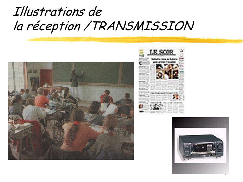 7 Illustrations de la réception /TRANSMISSION
