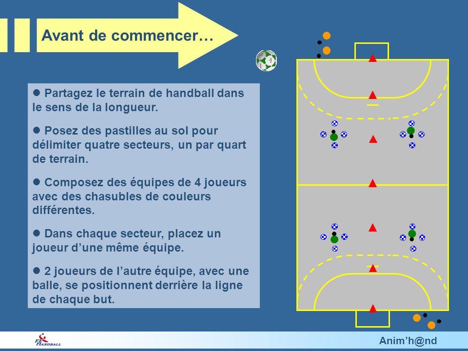 Animh@nd Partagez le terrain de handball dans le sens de la longueur.