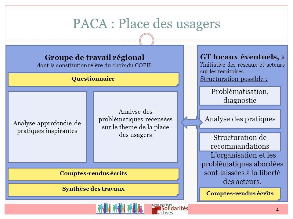 4 GT locaux éventuels, à linitiative des réseaux et acteurs sur les territoires Structuration possible : Lorganisation et les problématiques abordées