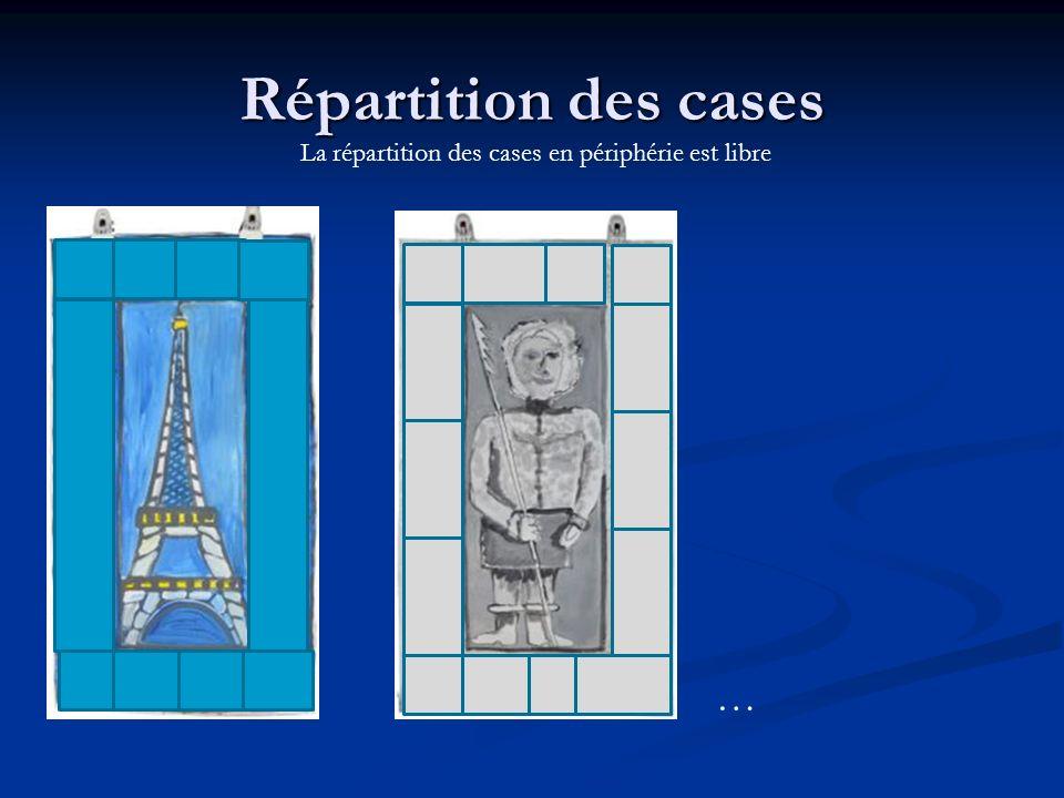 Répartition des cases La répartition des cases en périphérie est libre …