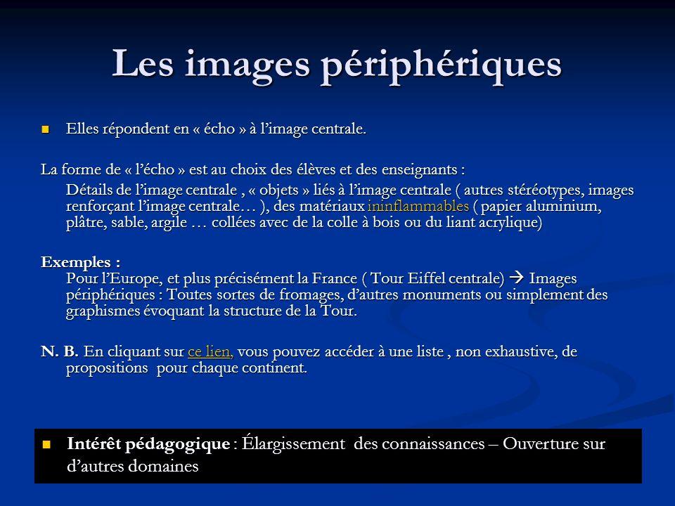 Les images périphériques Elles répondent en « écho » à limage centrale. Elles répondent en « écho » à limage centrale. La forme de « lécho » est au ch