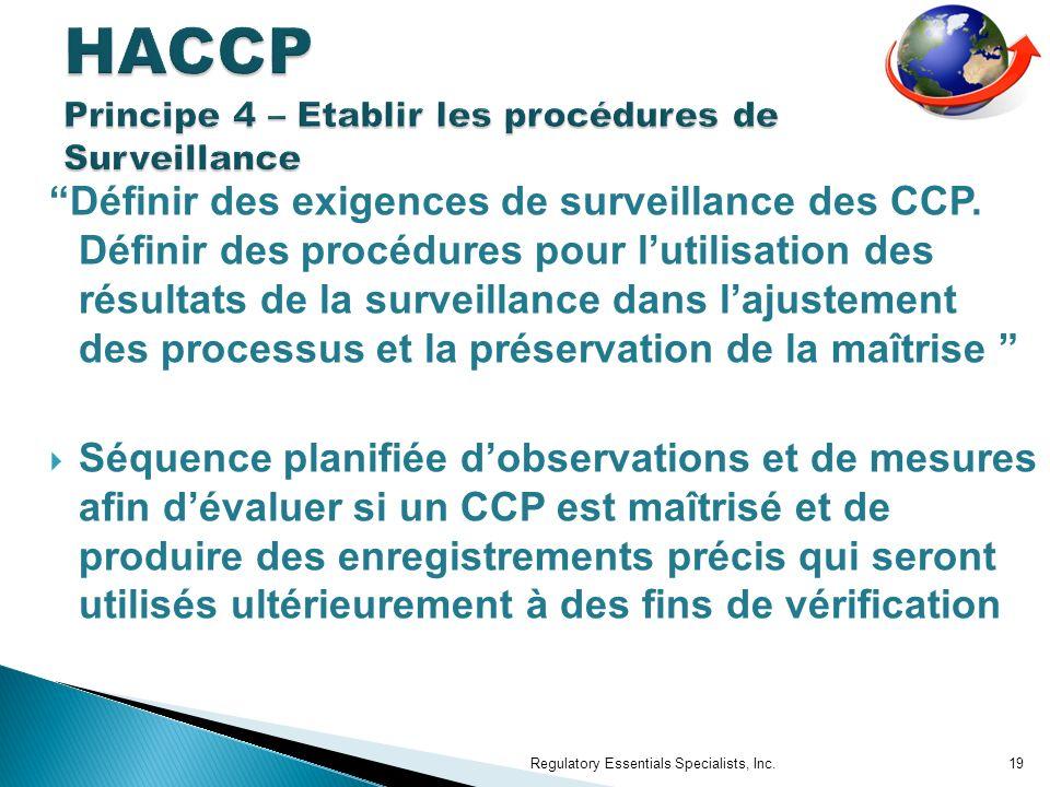 Définir des exigences de surveillance des CCP.
